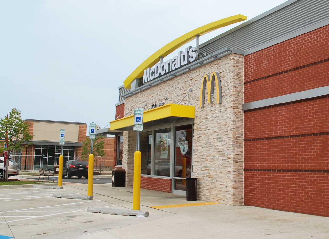 clean brick McDonalds restaurant