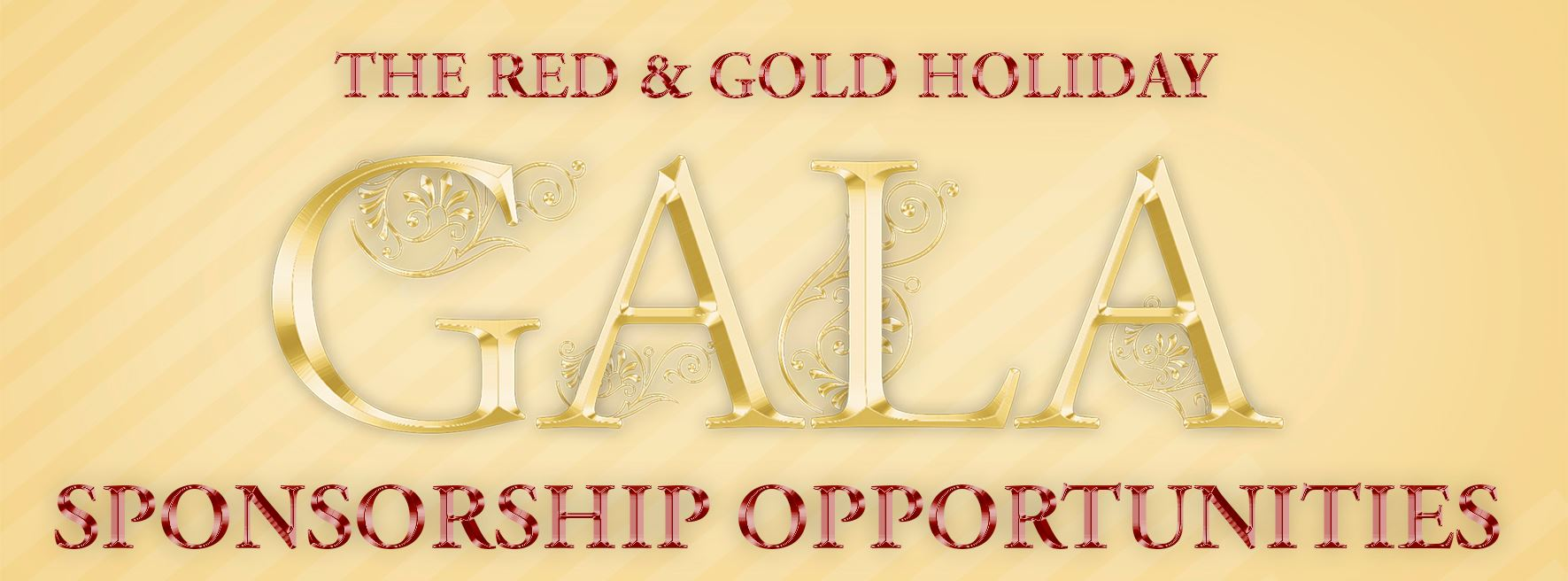 Red and Gold Sponsorship Opportunities