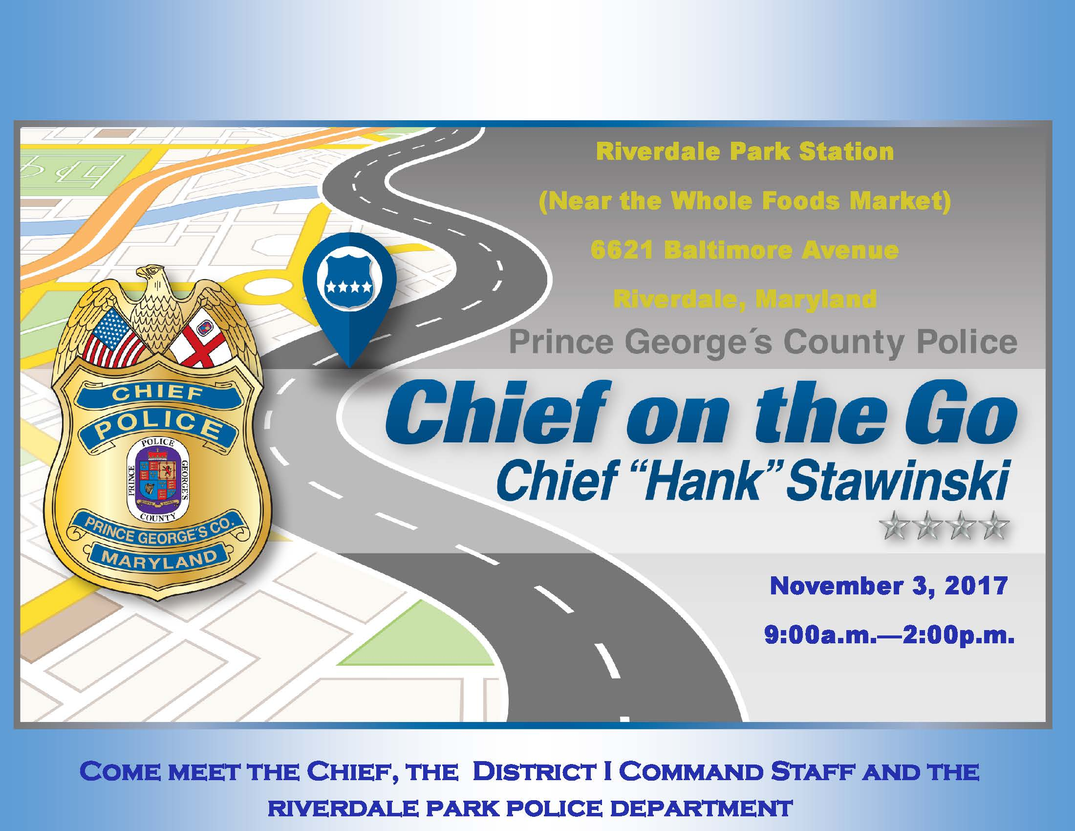 Chief on the Go flyer_Riverdale Park