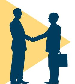 Image of Men Shaking Hands in a business suites