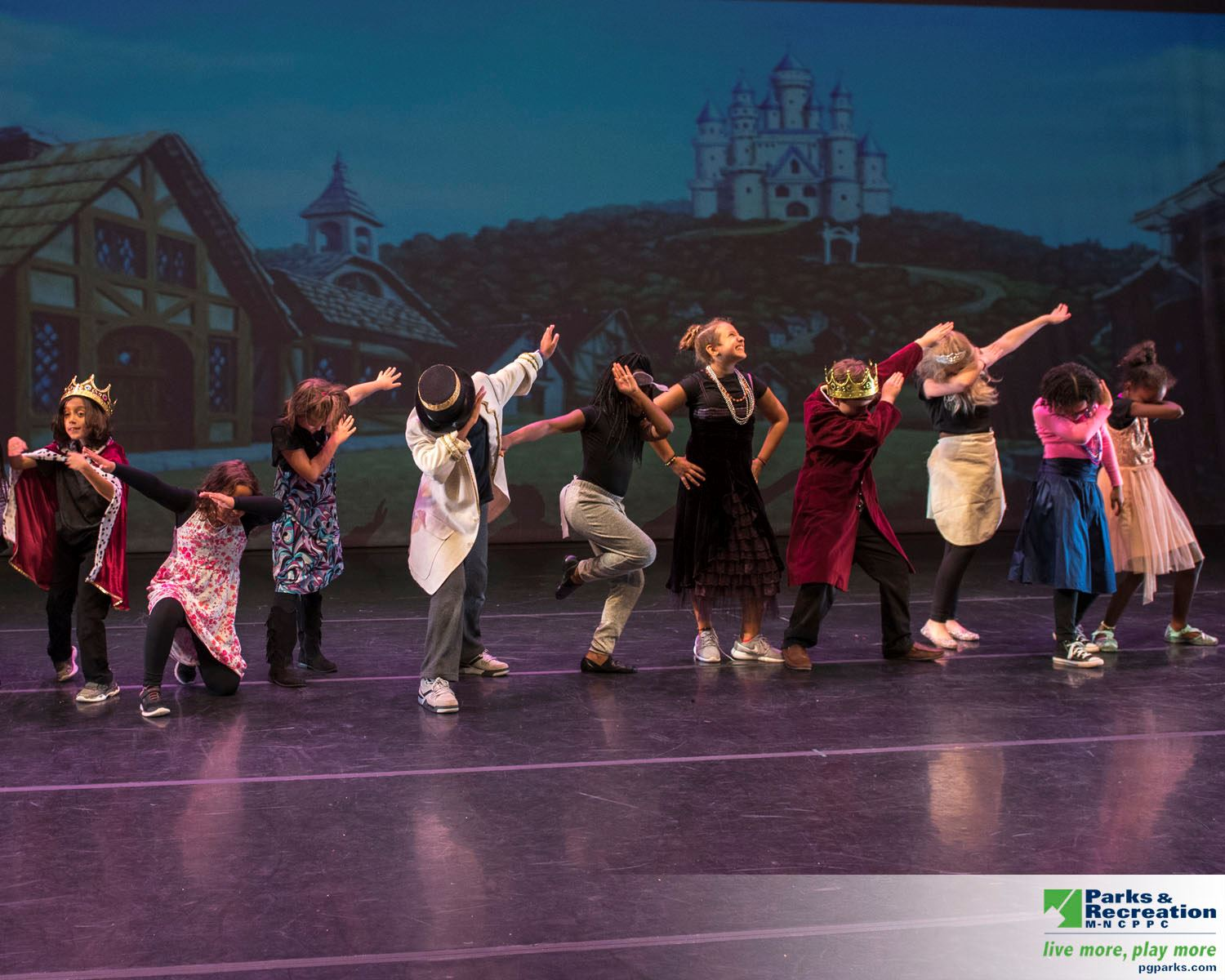 Image of kids doing the dab at Cinderella Kids