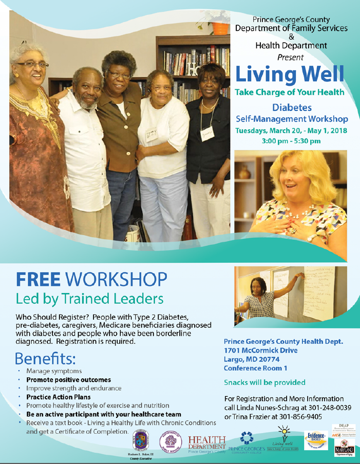 Diabetes Self Management Workshop Spring 2018 (PDF)