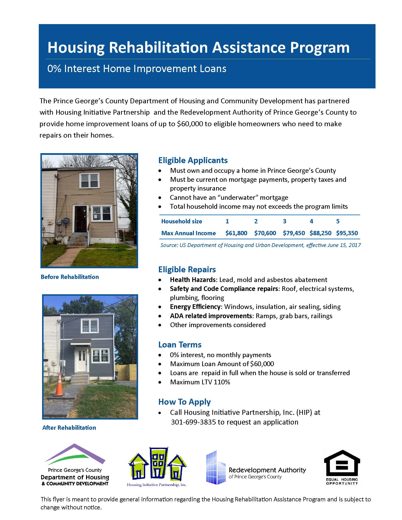 Housing Rehabilitation Assistance Program | Prince George\'s County, MD