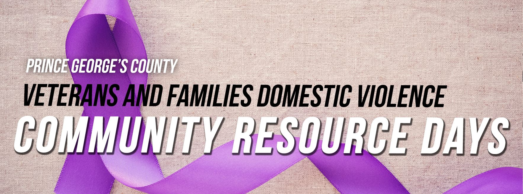 Veterans and DV Community Resource Days Web Banner