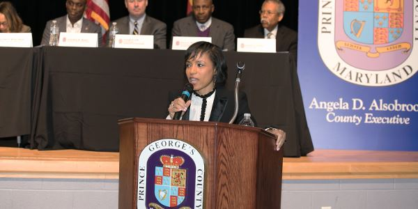 Angela Alsobrooks speaking