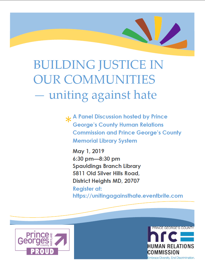 flyer uniting against hate