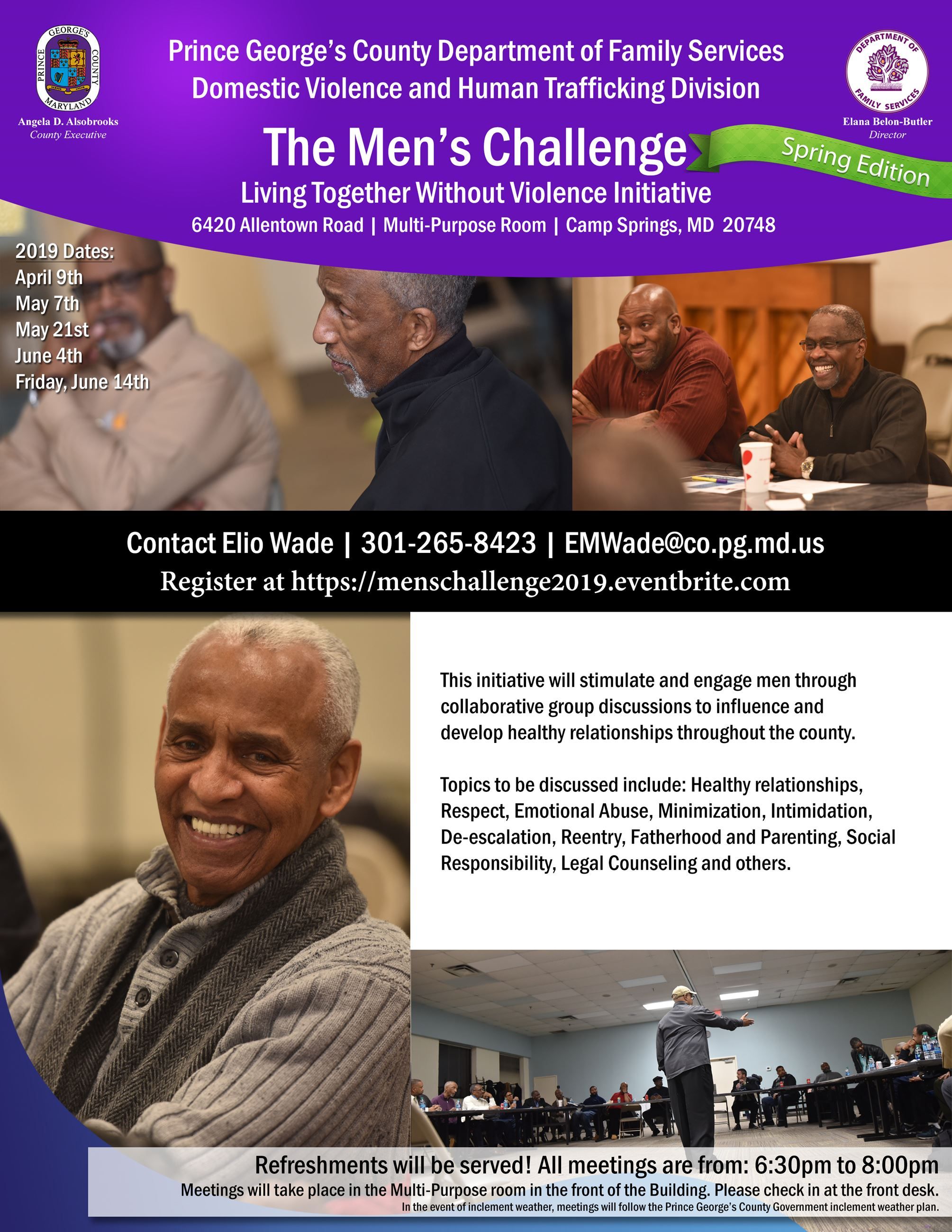 Mens Challenge Spring Edition Flyer
