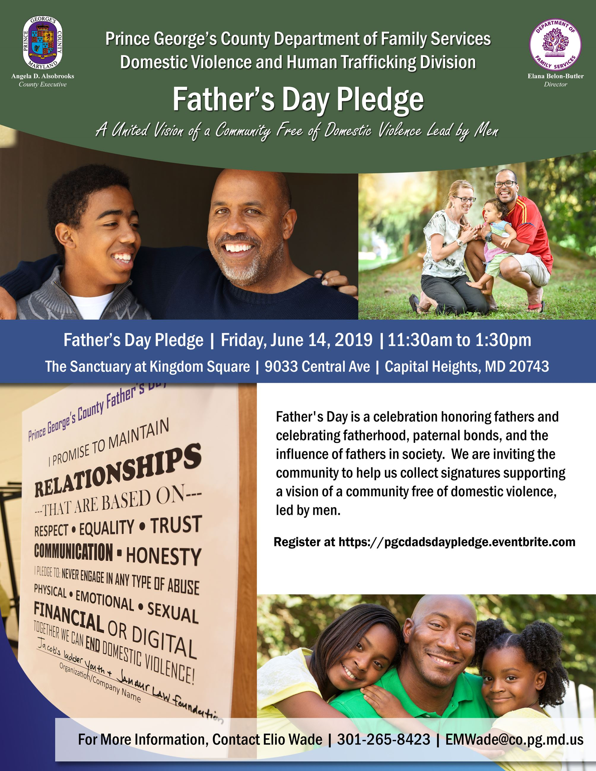 Fathers Day Pledge Flyer