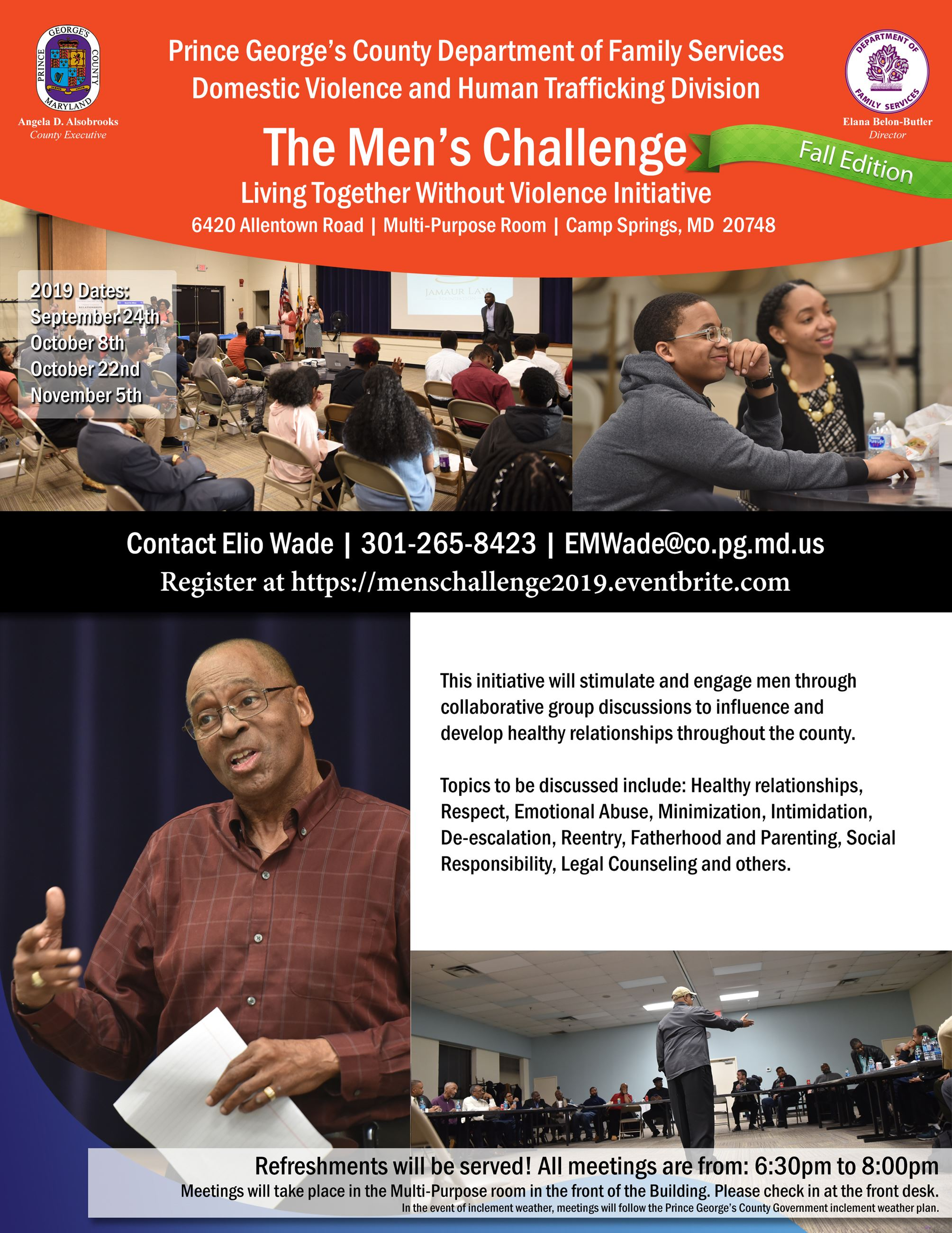 Mens Challenge Fall Edition Flyer