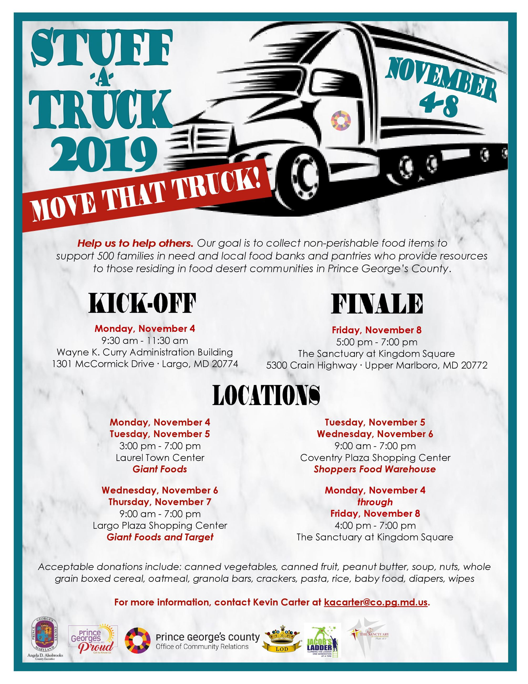 Flyer for Stuff-A-Truck 2019