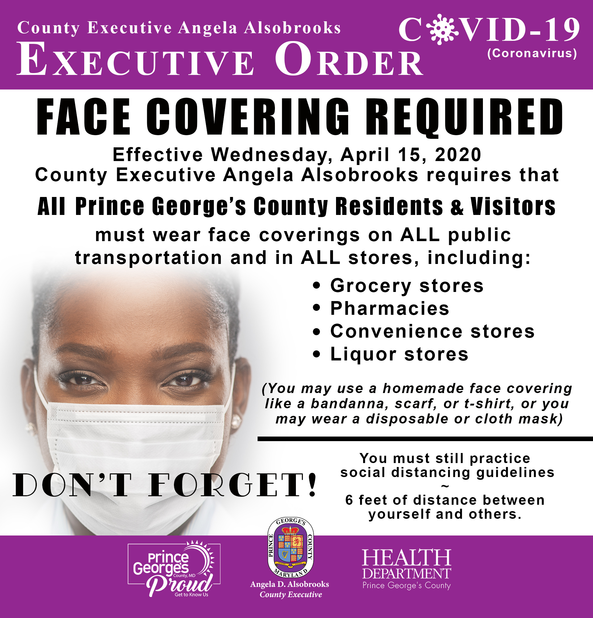 Face Covering Exec Order Updated English