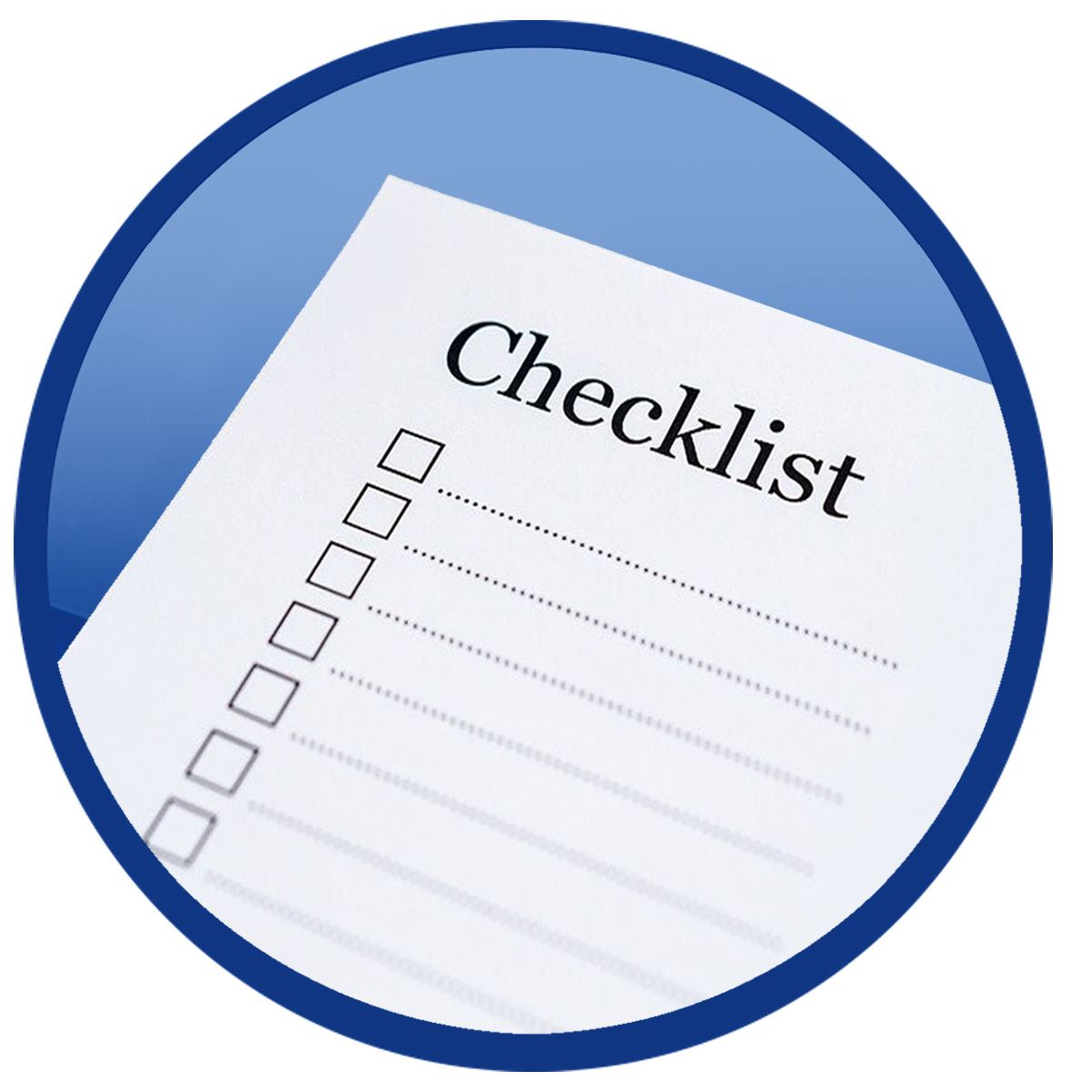 Checklist Icon takes you to forms and checklists page