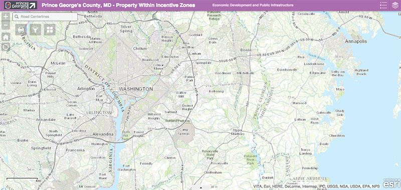 Geographic Development Incentives Tool Map