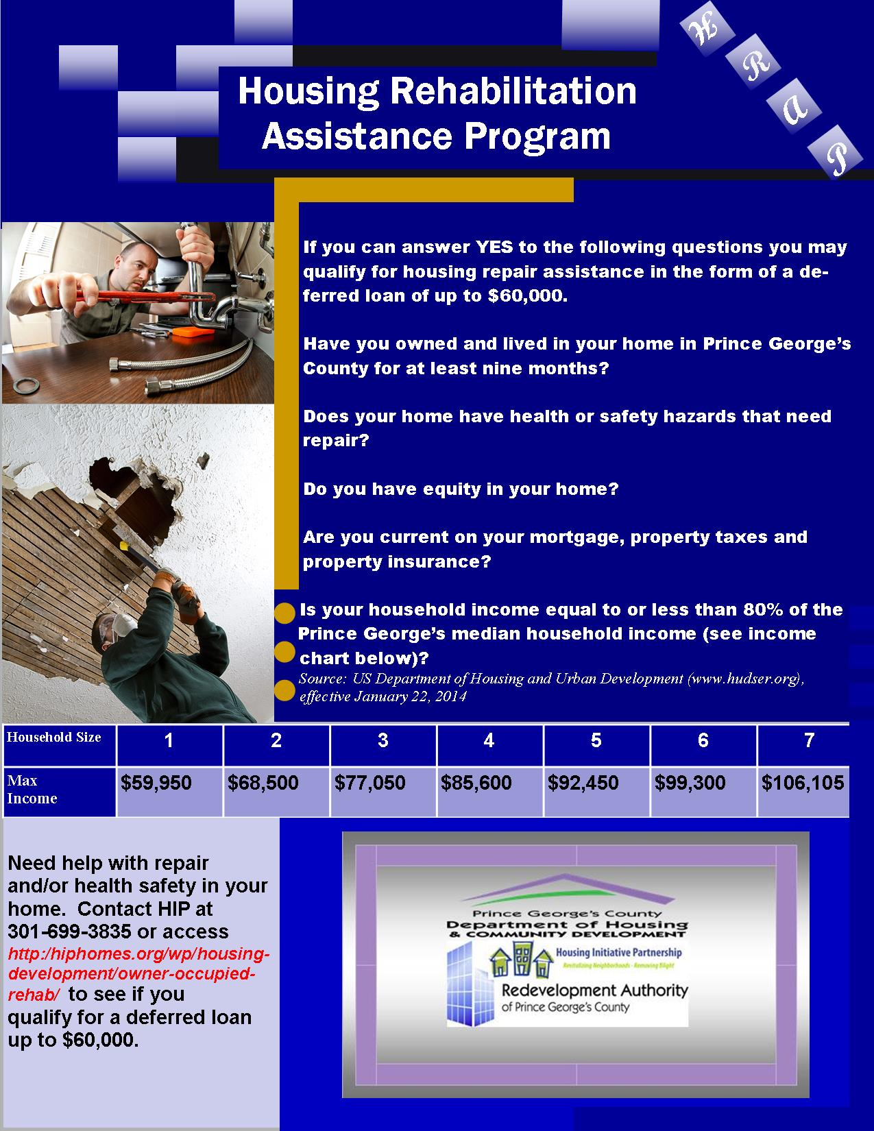 Flyer Housing Rehabilitation Assistance Program - July 28 2014