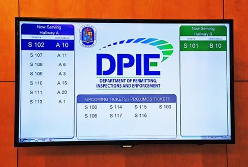 Department Headquarters Building Lobby Monitor