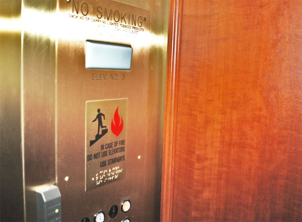 Elevator Fire Sign