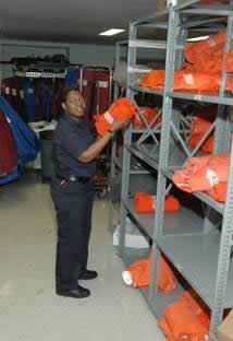Officer issuing Inmate clothing