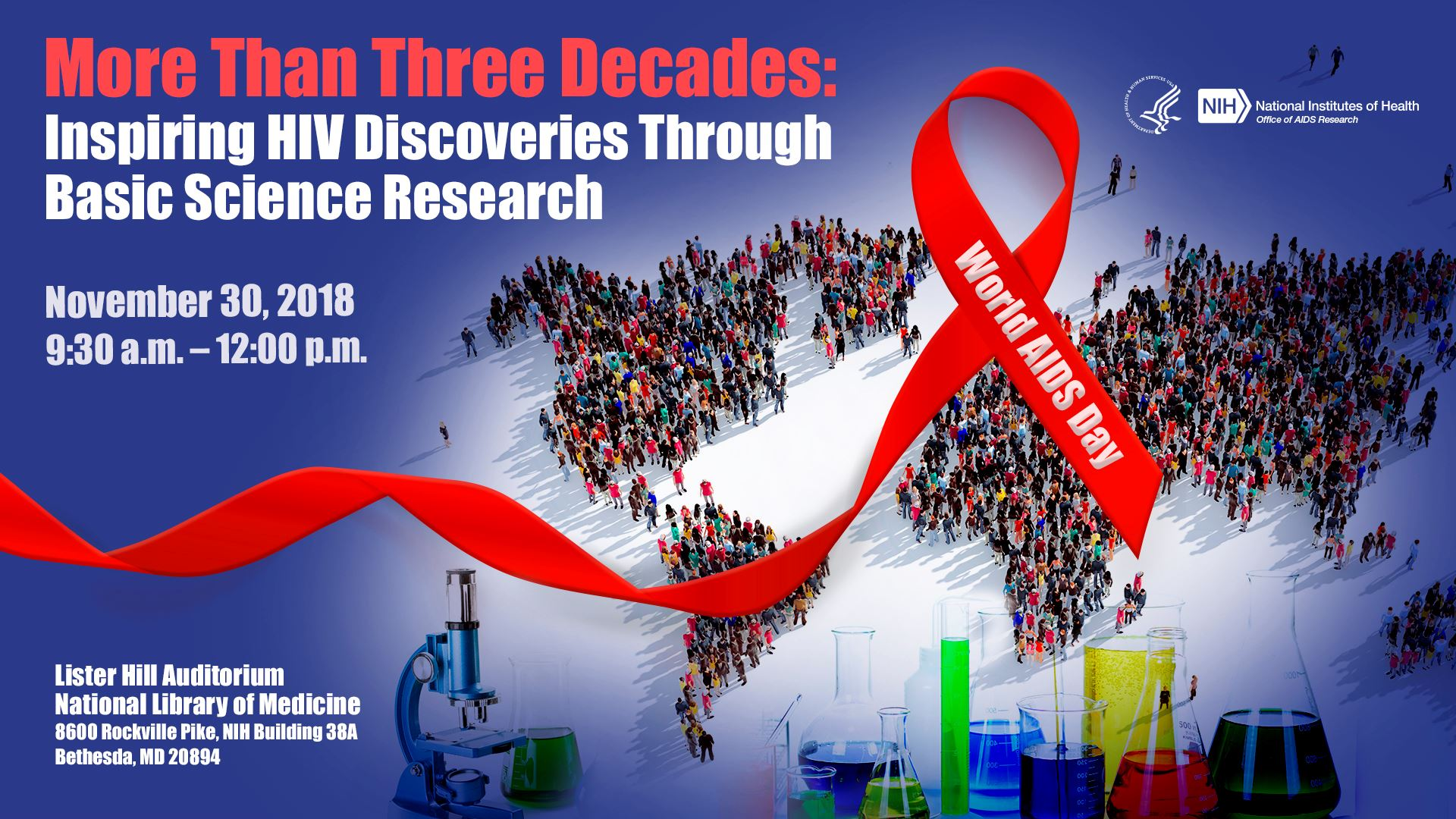 World AIDS Day 2018 National Institutes of Health (NIH) Flyer