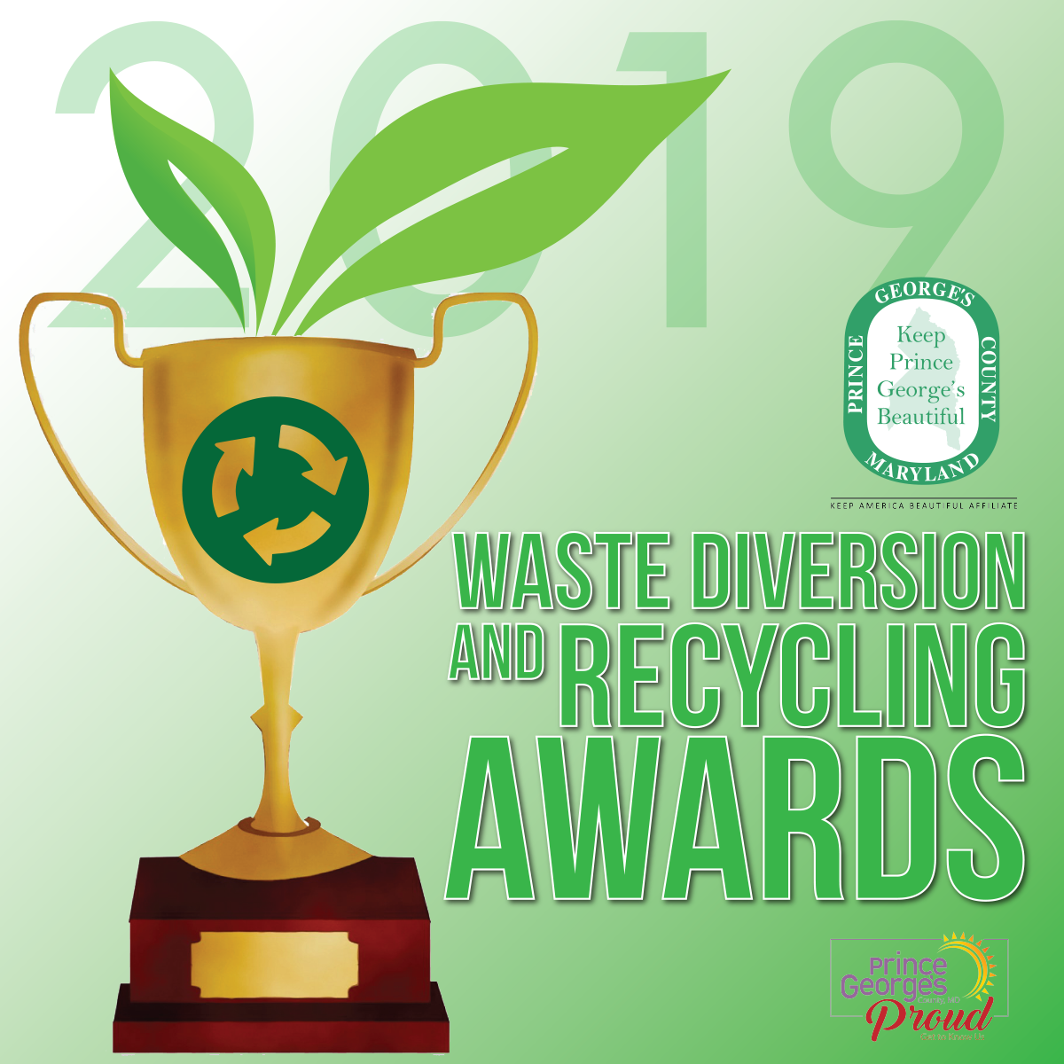 waste diversion and recycling awards graphic