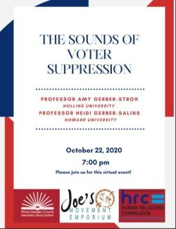 sounds of voter suppression