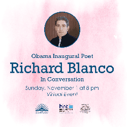 Image of Mr. Blanco featuring event date and time