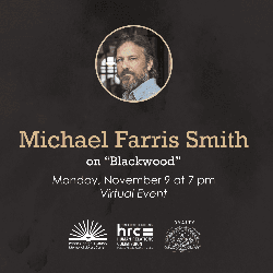flyer for Michael Farris Smith November 9 2020 event