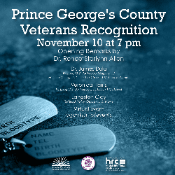 Prince George's County Veterans Day Event Nov 10 2020