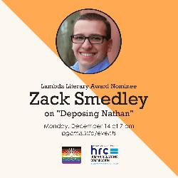 Flyer for Zach Smedley's December 14 2020 event