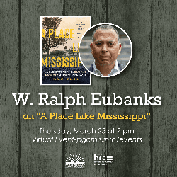 Flyer for March 25 event with W. Ralph Eubanks