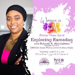 Flyer for April 8 Conversation about Ramadan