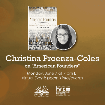 Flyer for June 7th event with Christina Proenza-Coles
