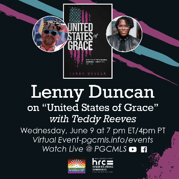 Flyer for June 9 Lenny Duncan event with PGCMLS