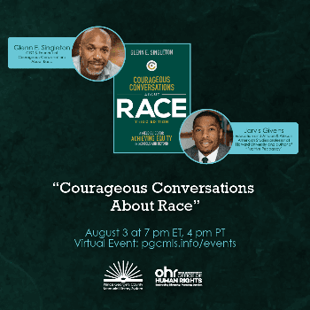 Flyer for August 3 Courageous Conversations About Race event
