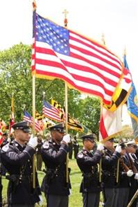 Prince George&#39s County Police Color Guard during a public ceremony
