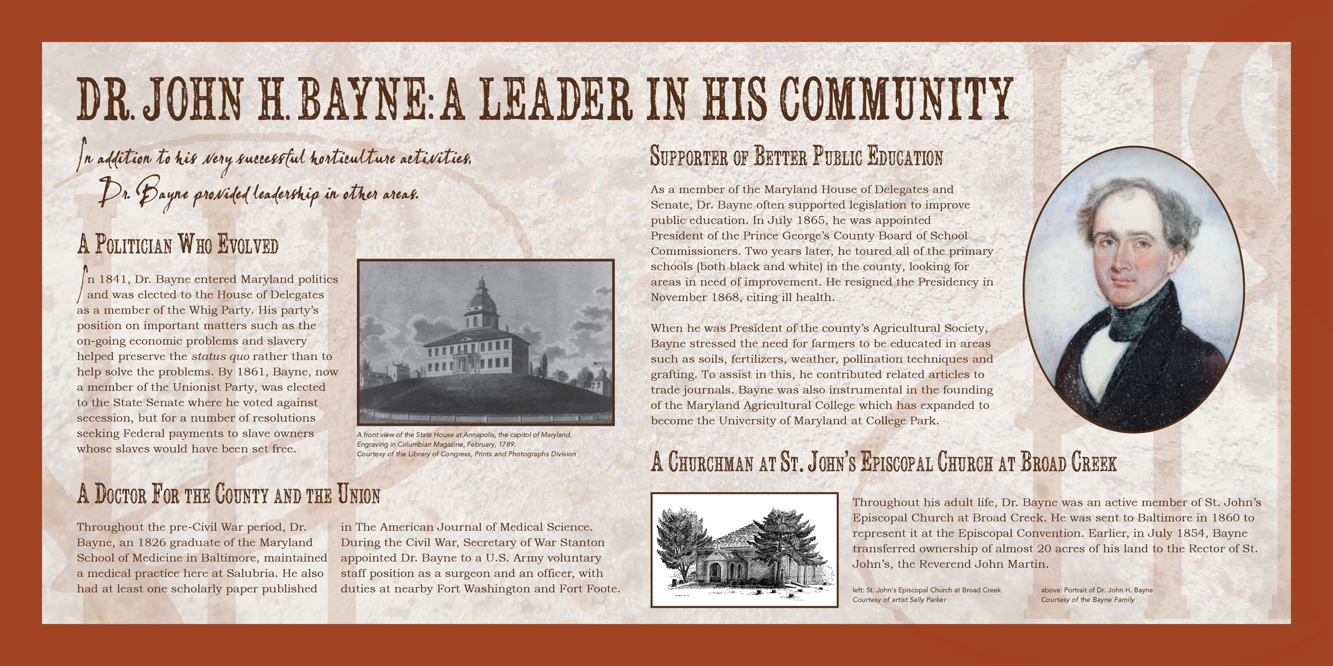 Dr. John H. Bayne - A Leader in His Community