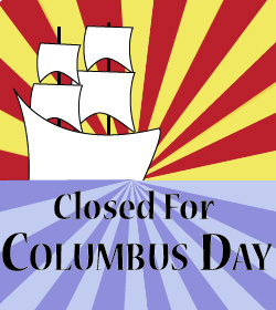 Closed for Columbus Day with Boat