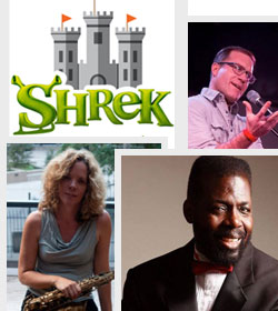 College of images for Shrek, Teddy Pendergrass Tribute and More