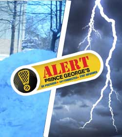 Alert Prince Georges - Snow and Thunderstorm Image